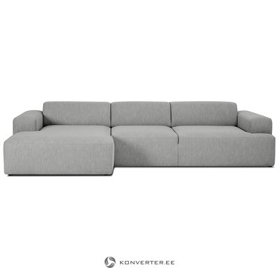 Gray corner sofa (marshmallow) (defective, hall sample)