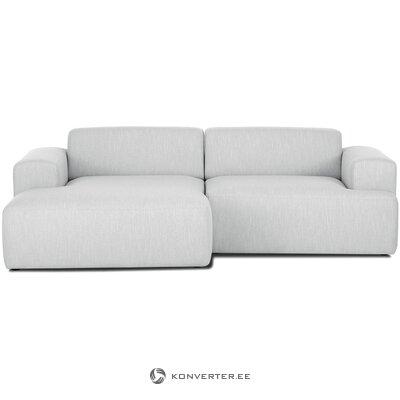 Šviesiai pilka kampinė sofa (melva)