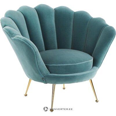 Zila samta krēsla trapece (eichholtz)