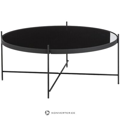 Black round coffee table (zuiver) (with flaws !, hall sample)