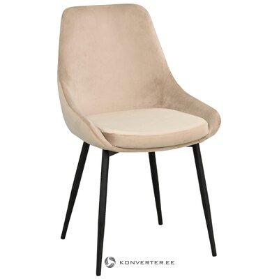 Gaiši pelēks samta krēsls sierra (rowico)