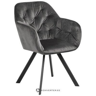 Кресло серое бархатное (actona) (здоровое образец)