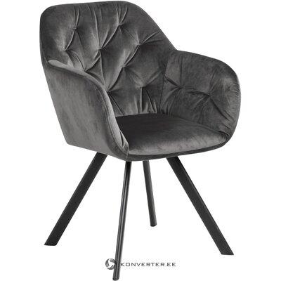 Gray velvet armchair (actona)