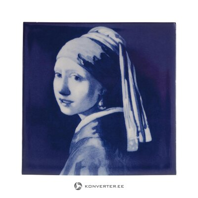 Decorative picture vermeer (royal delft) (whole, hall sample)