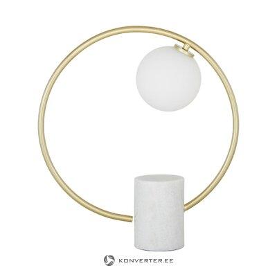Baltā zelta galda lampa (soho)