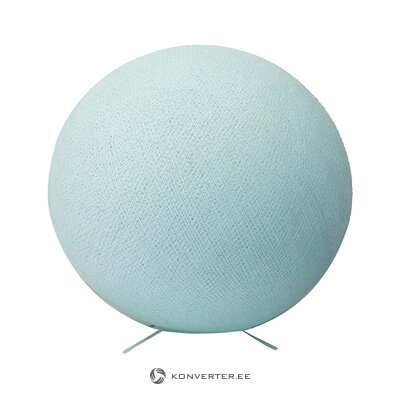 Light blue table lamp aqua (cotton ball)