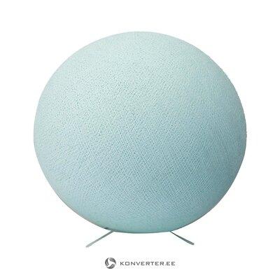 Светло-голубая настольная лампа aqua (ватный диск)