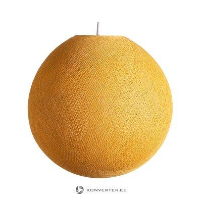 Keltainen riipus vaalea sinappi (puuvillapallo)