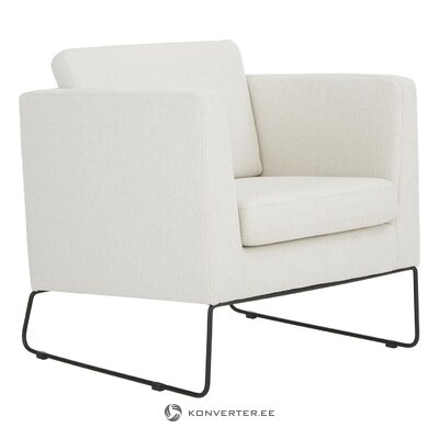 White armchair (milo) (whole, hall sample)