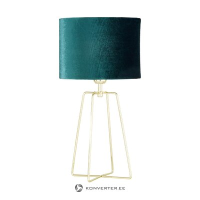 Настольная лампа зелено-золотая (каролина)