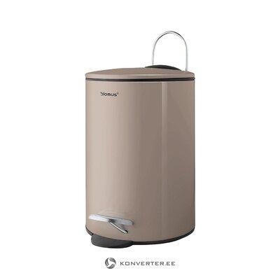 Beige trash can (blomus) (defective., Hall sample)