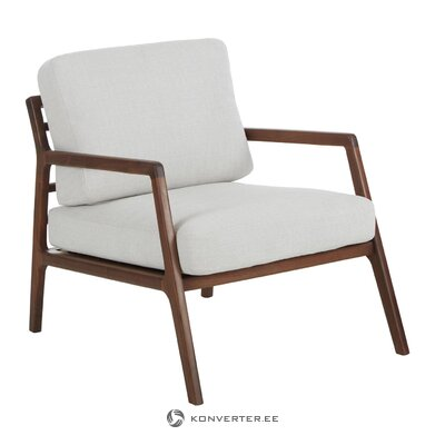 Walnut wooden armchair (becky) (with beauty defects., Hall sample)
