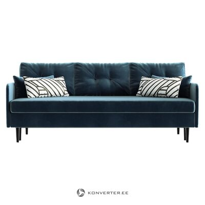 Velvet sofa bed in memphis (daniel hechter home) (with beauty defects., Hall sample)