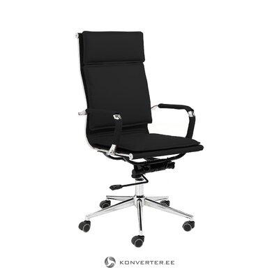Черное офисное кресло премьер (томасуччи) (целое образец зала)