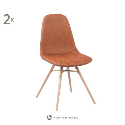 Brown leather chair diane (breazz) (whole, hall sample)