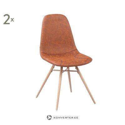 Коричневое кожаное кресло diane (breazz) (здоровое, образец)