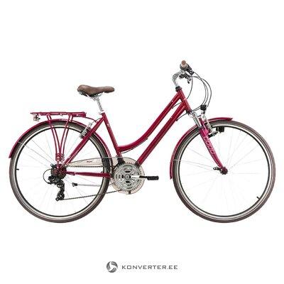 Sarkans sieviešu velosipēds Damen (sk. Riteņbraukšana)
