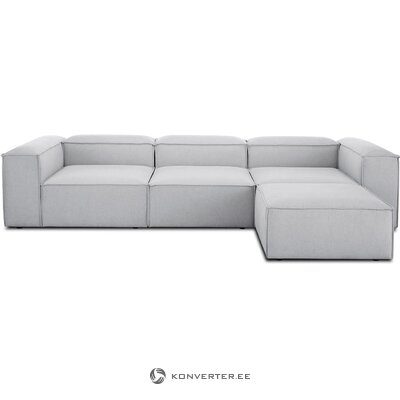 Pilka modulio kampinė sofa (skrydis)