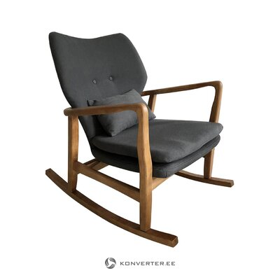 Brown-gray rocking chair (santiago pons) (with defects, hall sample)