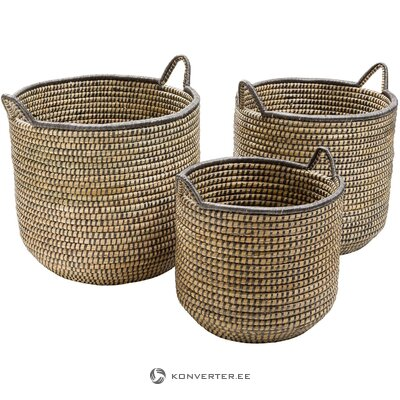 Storage basket set 3-piece (stormy)
