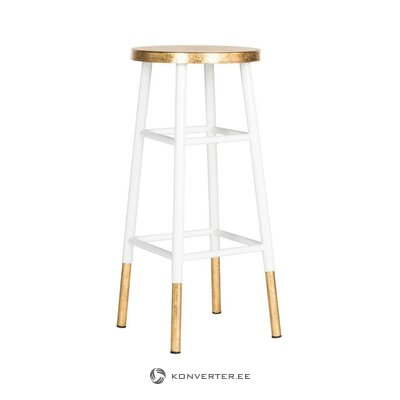 White-golden bar stool lugo (safavieh)