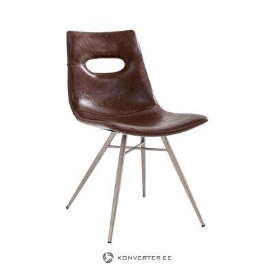 Коричневый стул венеция (грубый дизайн)