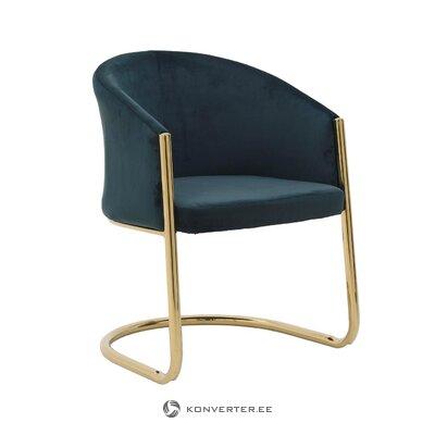 Vihreä-kultainen nojatuoli Audrey (inart)