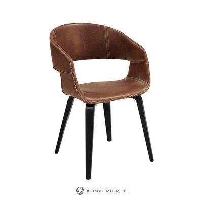 Ruskea-musta tuoli Nova (Interstil Tanska)