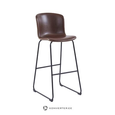 Brown-black bar stool zedina (interstil denmark)