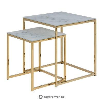 Marble imitation coffee table set alisma (actona)