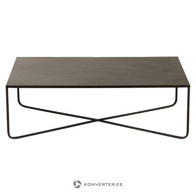 Musta metalli sohvapöydän risti (Jolipa) (koko, salinäyte)