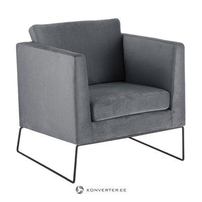 Pelēks samta krēsls (milo)