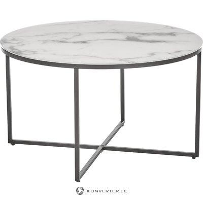 Журнальный столик под мрамор (антигуа) (цельный, образец зала)