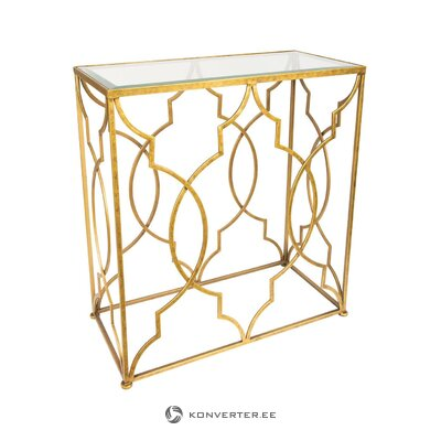 Kultainen konsolipöytä Duncan (Mossapour) (salinäyte, pieni kauneusvirhe)