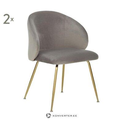 Gray-golden velvet chair (luisa)