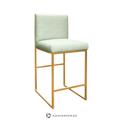 Green-gold bar stool kingston (worlds away) (whole, hall sample)