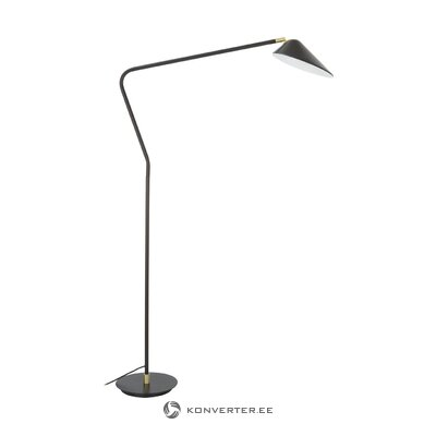 Black floor lamp (neron) (with strong flaws, hall sample)