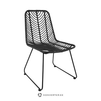 Black rontang chair (providencia) (whole, hall sample)