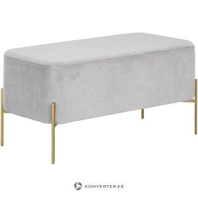 Gray velvet bench (harper) (healthy, sample)