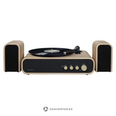 Gig (crosley) turntable with speaker and bluetooth receiver (hall sample, incomplete)