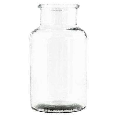 Stiklo gėlių vaza jaredya (namų gydytoja) (sveika, salės pavyzdys)