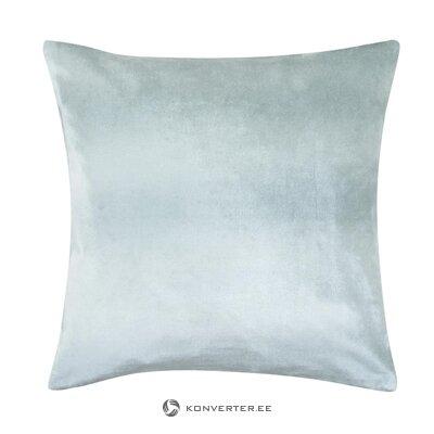 Harmaa samettinen tyynyliina Tessa (satamamaine) (salinäyte)