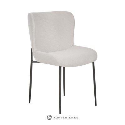 Vaaleanharmaa tuoli (tess) (koko)