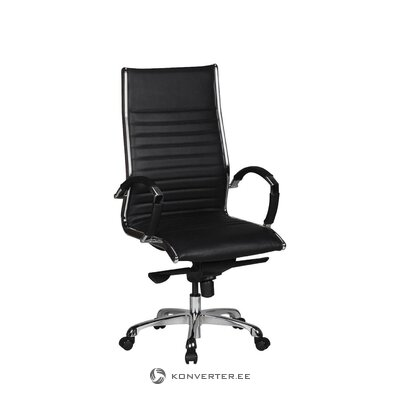 Стул офисный черный зальцбург (скайпорт)