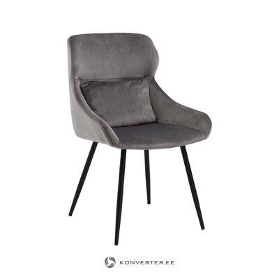 Серый бархатный стул zelda (томасуччи)