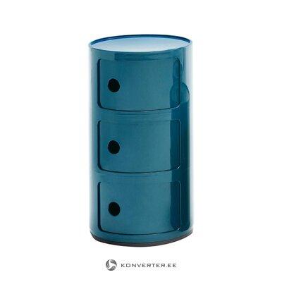 Прикроватная тумбочка синего цвета (картель) (целиком, в коробке)