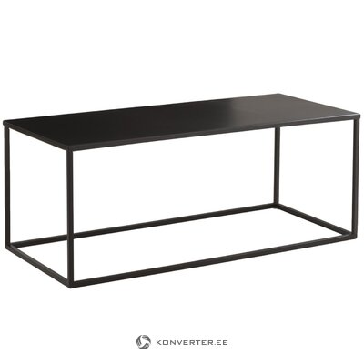 Black metal coffee table (stina) (with flaws, hall sample)
