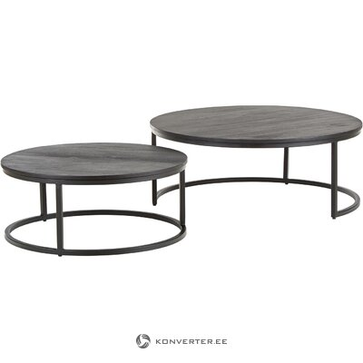 Black set of coffee tables (andrew) (hall sample, with beauty defects.,)