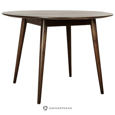 Round solid wood dining table (anderson) (with flaw, hall sample)