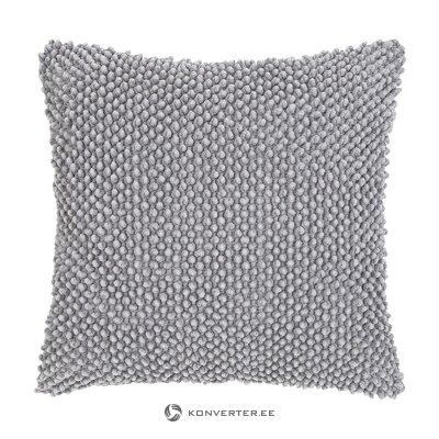 Vaaleanharmaa koristeellinen tyynyliina (indi) (kauneusvirheillä, salinäyte)